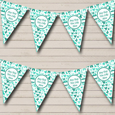 Party Banner Bunting Beautiful Turquoise Butterfly Shabby Chic Garden Tea