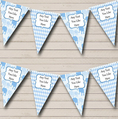 Baby Boy Shower Elephant Banner Shower Decoration Elephant