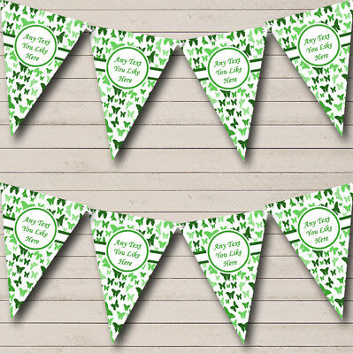 Party Banner Bunting Beautiful Green Butterfly Shabby Chic Garden Tea