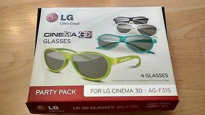 3D Brillen LG CINEMA 3D GLASSES 4 Stück AG-F315 Party Pack