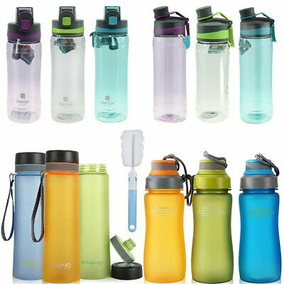 Water Bottle Cap Drink Kettle Yoga Sport Training Workout Gym + Brush