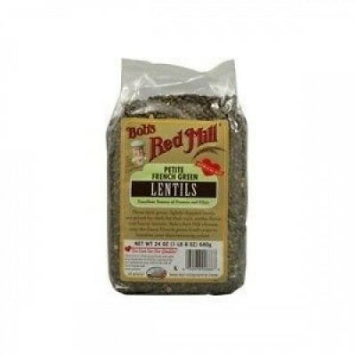 Bobs Red Mill Petite French Green Lentil Beans, 710ml -- 4 per case. Brand New.