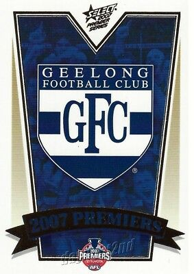 ✺Mint✺ 2007 GEELONG CATS AFL Premiers Card