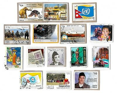 NEPAL - Selection of Stamps on Paper - All Different