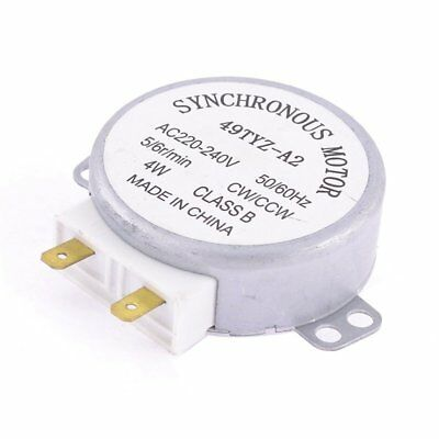 Microwave Oven Turntable Synchronous Motor CW/CCW 4W AC 220-240V O5Q5