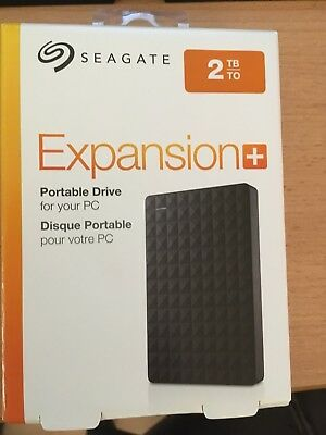 SEAGATE Expansion+ Portable, 2 TB HDD, 2.5 Zoll, extern, Schwarz