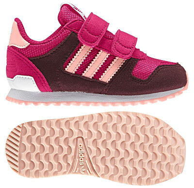 d276eeb86 Adidas Originals Infant Girls Zx Flux Trainers Pink Aubergine New and Boxed