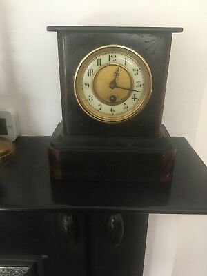 Victorian Slate Mantle Clock Working Order