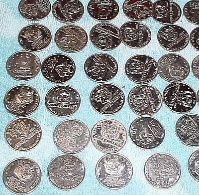 Lot of 30 Chuck E Cheese Vintage Tokens Pizza OVER THE HEDGE