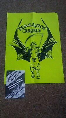 Desolation Angels Hm Band Poster And Flyer From 1980's