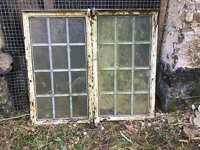 2 Crittal Type Windows with leaded glass