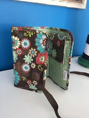 Thirty One Tri-Fold and Go Organizer Notepad Holder Floral Fanfare