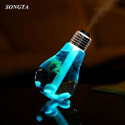 400ml LED Lamp Air Ultrasonic Humidifier for Home Essential Oil Diffuser