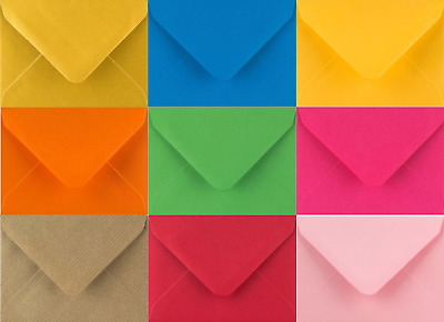 "25 x C6 A6 Coloured Envelopes 114x162 4x6"" Greeting Card Party Invitations Craft"