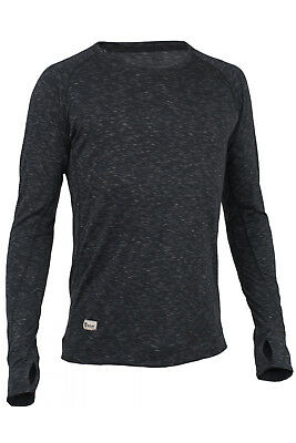 RÖJK SuperBase Sweater Guys blackberry - Merino Baselayer Ski Trekking Running
