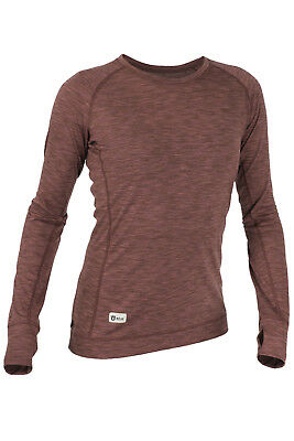 RÖJK SuperBase Sweater Chicks harissa - Merino Baselayer Ski Trekking Running