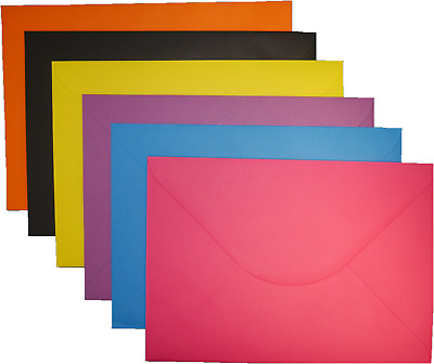 50 x C5 A5 Coloured Envelopes 162x229mm Greeting Card Party Invitations Crafts