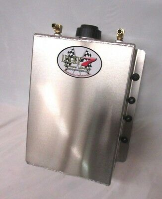 4 QT Aluminum Radiator Coolant Expansion Recovery Overflow Tank Universal