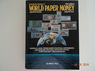 361A World Paper Money, Albert Pick Standard catalog of, fifth edition