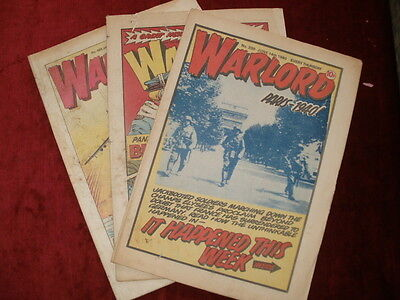 WARLORD Comic - Issue 299,394 and 488 - UK Paper Comic