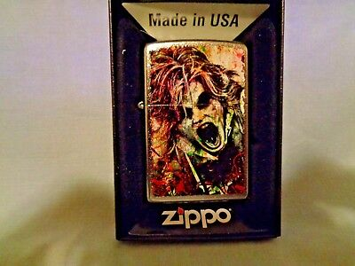 Zippo Windproof Street Chrome Lighter With Zombie, 28876, New In Box