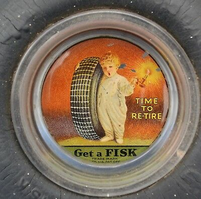 Vintage Tire Advertising Fisk Tire Ashtray