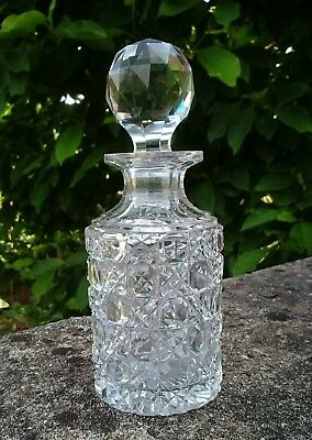 bc3cab5586c9 Antique French Baccarat Cut Glass Crystal Perfume Scent Bottle Flakon  Victorian