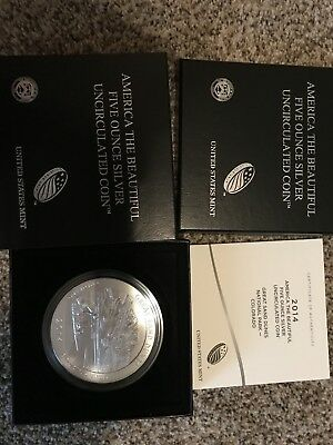 2014-P SPECIMEN GREAT SAND DUNES 5 Oz. SILVER ORIGINAL BOX and COA NR4