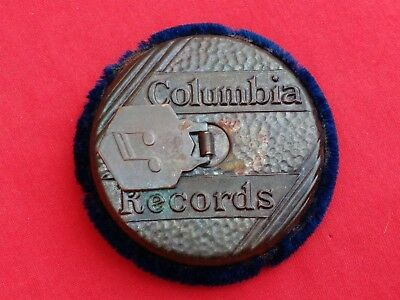 ORIGINAL VINTAGE COLUMBIA 78rpm RECORD CLEANER, METAL & BAIZE CLEANING PAD