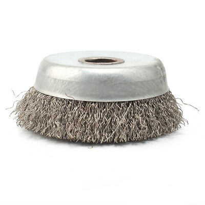 90mm Stainless Steel Crimped Wire Cup Wheel Rust Removal Cleaning Brush