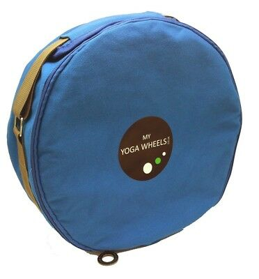 (Blue) - MyYogaWheels Yoga Wheel Bag Carry Case With Shoulder Strap - Fits All