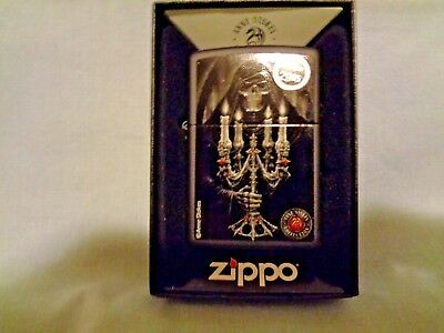 New ZIPPO Windproof Flame Anne Stokes Collection 28857 # 4 Skeleton Skull Candle