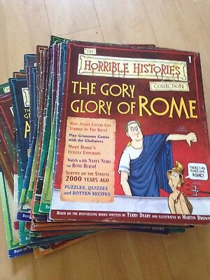 Horrible Histories magazines, almost complete set 1-48 COLLECTION ONLY