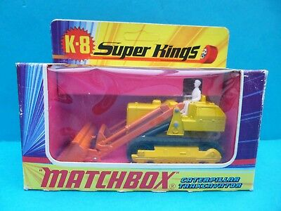 Matchbox Superkings K-8 Traxcavator with Hydraulic Shovel Caterpillar in OK