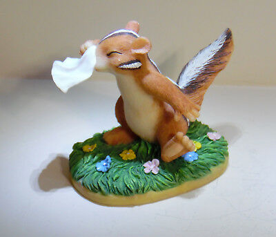 Fitz And Floyd Charming Tails Ah-Choo Get Well Soon Chipmunk Figurine