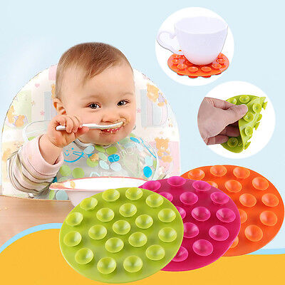 Magic Suction Bowl Mat Baby Kids Child Suction Table Food Tray Placemat Plate#|.
