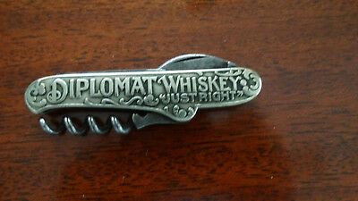 Old Pocket Knife Advertising GLASNER & BARZEN DIPLOMAT WHISKEY KC SOMMELIER