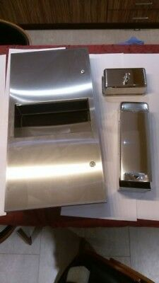 washroom joblot ! paper towel dispenser/bin, soap dispenser , toilet roll holder