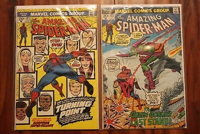 Amazing Spiderman 121, 122 Death of Gwen Stacy FN/VF Condition