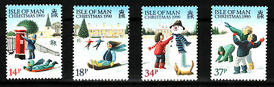 1990 Isle of Man, Christmas, NH Mint Set of Stamps, SG 459-62