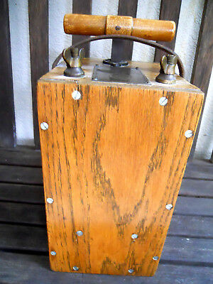 Antique HERCULES BLASTING MACHINE Early Mining Dynamite Plunger Detonator