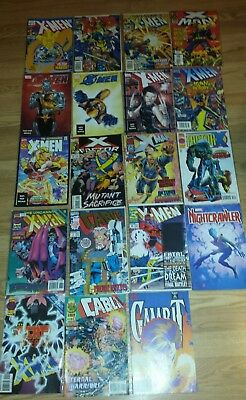 Marvel X-Men Comic Lot 19 Books Ungraded Wolverine Cable Gambit Rouge