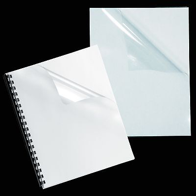 """7 Mil Crystal Clear Binding Covers, 8.5 x 11"""", Pack of 100"""