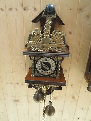 Vintage 8 Day Dutch Wall Clock For Spares or Restoration