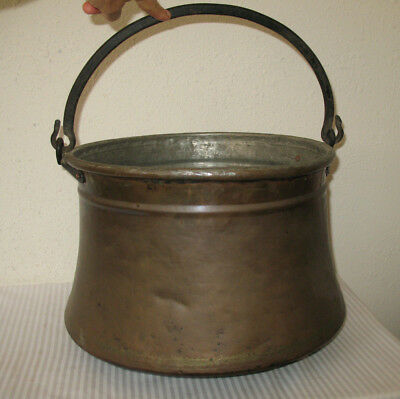 Copper Cauldron Vintage Large Hanging Fireplace Pot Hand Forged Primitive Turkey