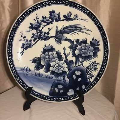Japanese Large Charger Arita Ware Hand Painted Plate