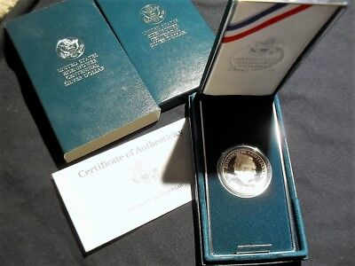 Silver Dollar United States Mint Proof In Box With Coa No Reserve In Box & Cover