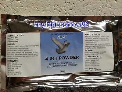 Pigeons products 4 IN 1 POWDER (Medpet) Pigeons Medications