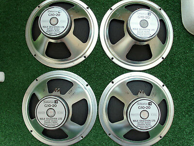 4 x Rola Celestion G10-20 / a.8 Ohm made in UK. vintage