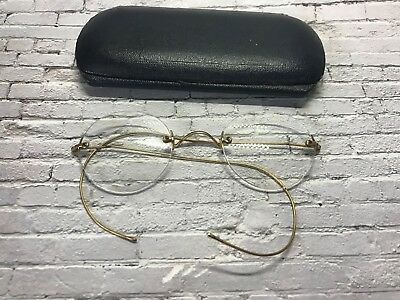 vintage  gold filled rimless round spectacles 30s 40s